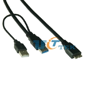 1.8M 6FT USB 3.0 Y-Cable USB 3.0 A Male To Micro TYPE B