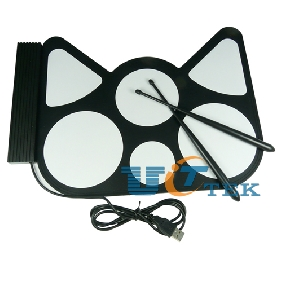 USB PC Digital Electronic Roll up Drum Pads Kit Stick