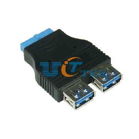 2 Port USB 3.0 A Female to 20 Pin Adapter Internal Usb Motherboard Connection