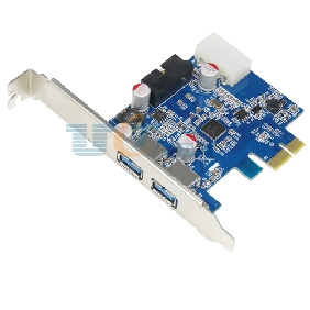 PCI Express PCI-E to 2 Port USB 3.0 Host Control Card w/ 20Pin USB3.0 Connector NEC Chipset with Solid Capacitors