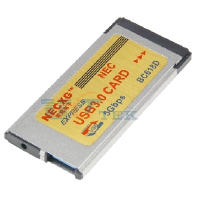 Express Card Expresscard 34mm to USB 3.0 Adapter 1 Port Hidden NEC Chip 720202