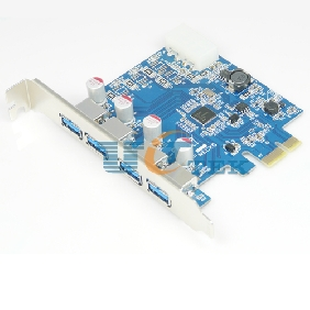 4 Port PCI-E Express To USB 3.0 Controller Card Adapter NEC Chipset with Solid Capacitors