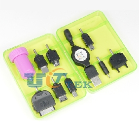 New 8in1 Car Charger pack For Phones PSP Ipod Cameras Iphone 5V 1A