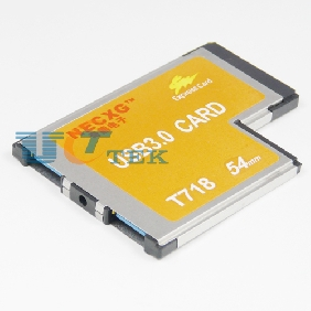 54mm PCMCIA ExpressCard 2 Port SuperSpeed USB 3.0 HUB Adapter For Notebook NEC 720202