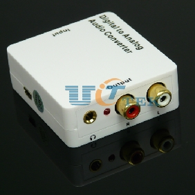 SPDIF / Coaxial Digital to Analog Audio Converter + 3.5mm Headphone Jack