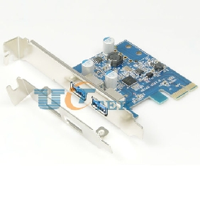 2 Port USB 3.0 to PCI Express 2.0 PCI-E Host Control Card NEC D720202 Chipset with solid capacitors
