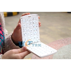 Mini Bluetooth Wireless Portable Keyboard for iPhone 4 iPad 1 2 3 Folding Design White