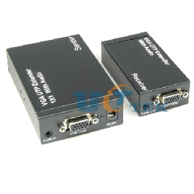 Video VGA 1x1 UTP Extender Extension Over CAT5e/6 With Audio up to 300M