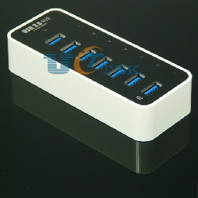 USB 3.0 7 Ports HUB with 12V 3A Adapter VIA Chipset Win XP/ Vista/ 7 / 8 / Mac Linux
