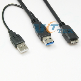 1M 3FT USB 3.0 Y-Cable USB 3.0 A Male To Micro TYPE B High-speed 5Gbps