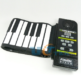 61 key Electronic Piano Keyboard Silicon Flexible Roll Up Piano with touch Controll Panel MIDI Port