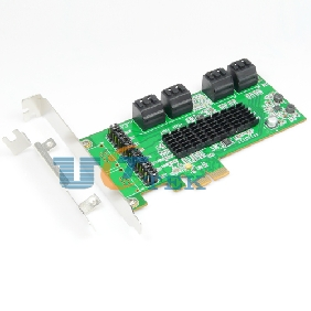 8 Internal SATA III Ports PCI-Express Card, PCI-e x2 Slot, Specification V2.0 Plus Low Profile Bracket