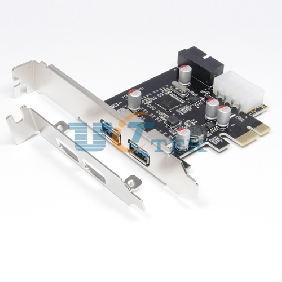2 Port USB 3.0 to PCI Express 2.0 PCI-E Host Control Card w/ 20Pin USB3.0 Connector with Low-profile bracket
