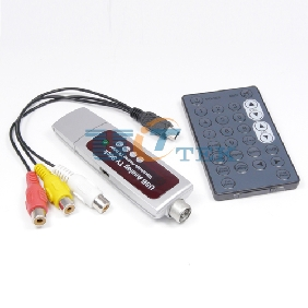 USB 2.0 Global Analog TV Tuner Dongle PAL/NTSC/SECAM with Remote Controller