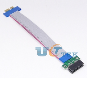 PCI-E 1x Extension Flex Cable 32 Bits PCI Extender Card Adapter