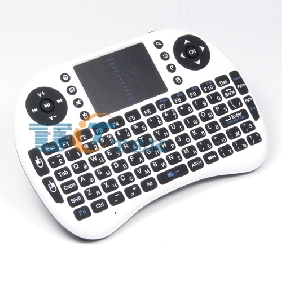 2.4GH white Mini Russian Version Wireless Keyboard + Touchpad Mouse Combo for HDPC Win7 Pad Google Andriod TV Box