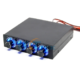 "3.5"" Bay FDD Panel 4 x PC Cooling Fan Speed Temperature Controller Led Cooling Front Panel"