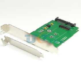 M.2 (NGFF) SSD to SATA 3.0 III 6G Adapter with PCI-E Low/Standard Profile Bracket