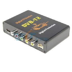 High Speed Mobile Car DVB-T2 Digital TV Tuner Receiver with USB HOST
