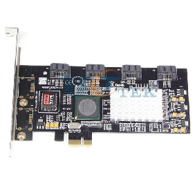4-Port SATA 2.0 II PCI-e Express RAID Controller Card Adapter SIL3124 NCQ FIS