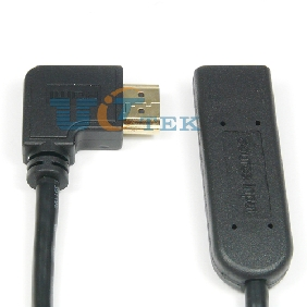 HDMI Extender Repeater HDMI A Male Right 90 Degree to HDMI Female Up to 70M w/ Chipset Support 4K*2K