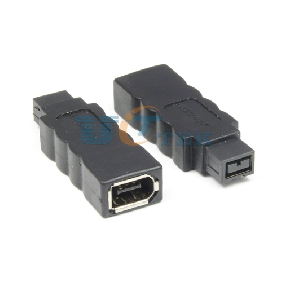 IEEE 1394B Male to 1394A Male FireWire 800 9-pin to FireWire 400 6-pin Connector