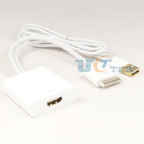 30pin Dock to HDMI AV HDTV Adapter with USB Charging Cable for iPad 3 2 iPhone 4 4s