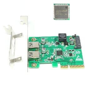 New PCI-E To USB 3.1 Card Adapter 2Port USB3.1 Type-A 10Gpbs PCI Express 4x Add On Card Converter for PC w/ Low Profile Bracket