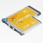 54mm PCMCIA ExpressCard 2 Port SuperSpeed USB 3.0 HUB Adapter Fo