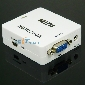 Mini HDMI to VGA Audio Converter Adapter Full HD 1080P