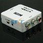 New 1080P AV CVBS to HDMI Video Audio Signal Converter Adapter For TV VCR DVD