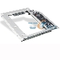 Hollow-carved Laptop optical bay 2nd HDD caddy for Apple MacBook MacBook pro Unibody SATA to SATA 9.5mm