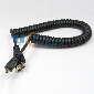 2m Micro HDMI Male to HDMI Male Spiral Coiled Flexible Cable EVO 4G Droid X Atrix