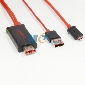 2M MHL Micro USB to HDMI Cable Adapter HDTV For Galaxy I9100 S2 I9200 HTC One X