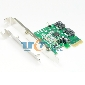 PCI-E PCI-Express 1x To SATA 3.0 III 2 Ports Adapter Card Marvell 88SE9120