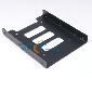 "2.5"" to 3.5"" Bay SSD HDD Hard Drive Mounting Bracket Adapter Tray Dock Metal"