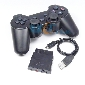 New 3 in 1 2.4GHz Wireless Game Controller For PS2/PS3/PC USB Double Shock joystick Compatible With Windows