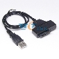 USB 2.0 to 7+6 13pin Slimline SATA Laptop DVD CD ROM Adapter Cable