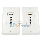 HDMI Over a CAT5E/CAT6 Two-way IR Remote Extender Wall Plate up 150FT 3D