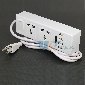 Super Power Charger 4Port USB 5V w/ 2x universal Power socket