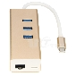 USB 3.1 Type C USB-C To 3 Ports 3.0 Hub + Ethernet Network LAN + USB 3.1 Charging Port Adapter For Macbook & Chromebook