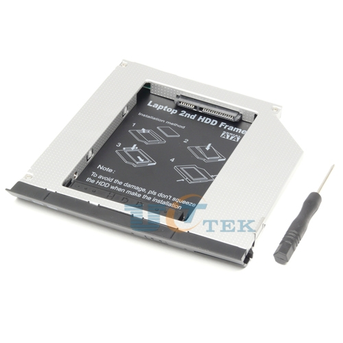 With Ejector 2nd Hard Drive HDD SSD Caddy For Dell Latitude E6330 E6430 E6530